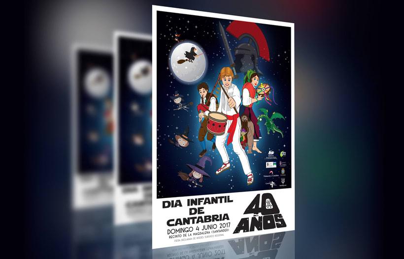 Cartel del Día Infantil de Cantabria 2017 1