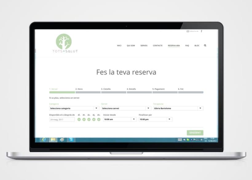 Creación de logo,  página web y copywriting 2