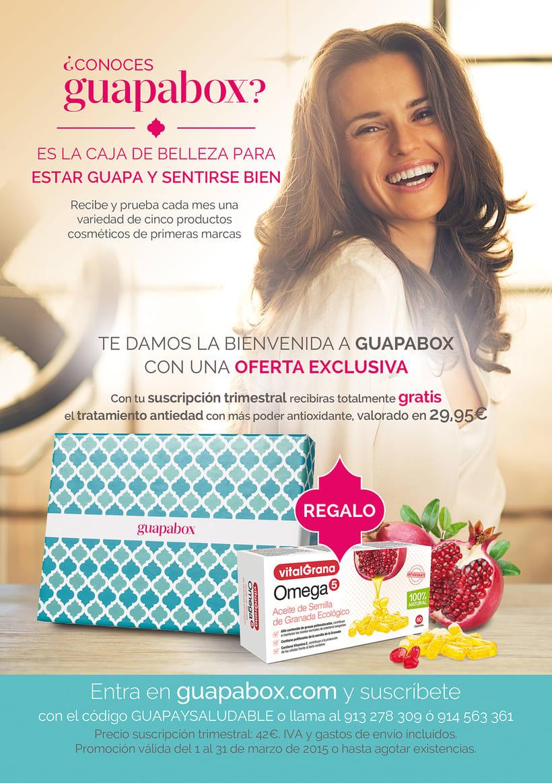 Página publicitaria de Guapabox para la revista 'Gente saludable' -1