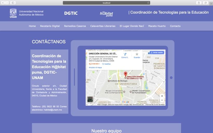 Web h@bitat puma, proyecto de inclusión digital UNAM 5