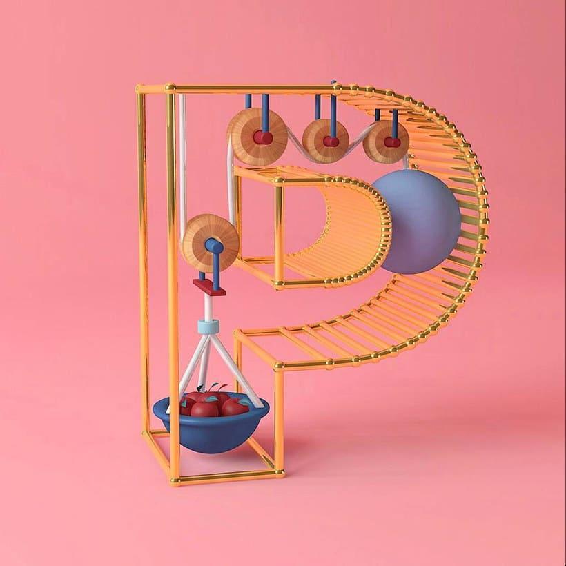 Las letras en tres dimensiones de Tati Astua 16