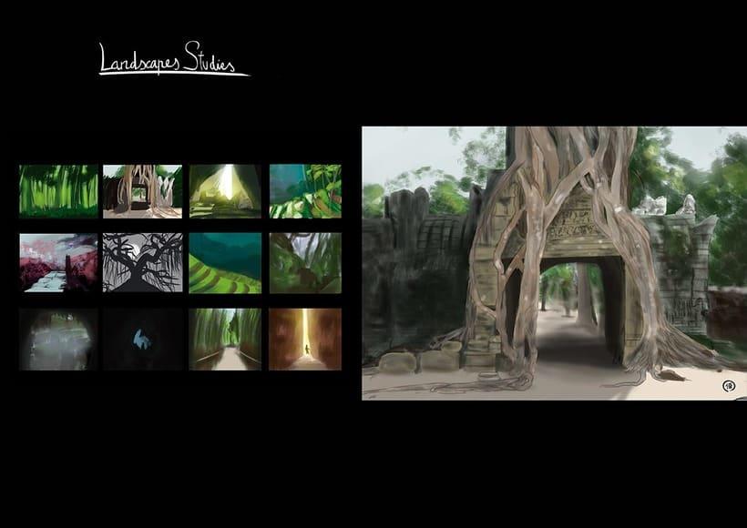 Escena y estudios de paisajes naturales. 2