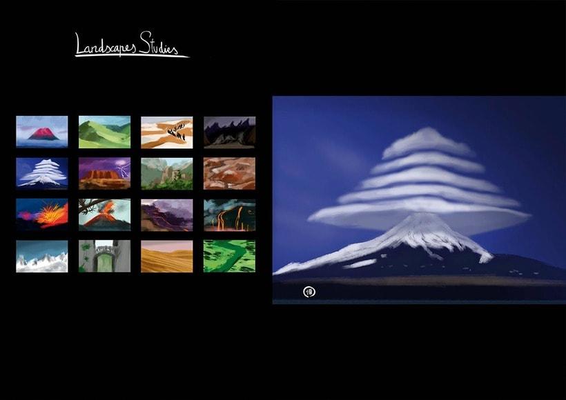 Escena y estudios de paisajes naturales. 3