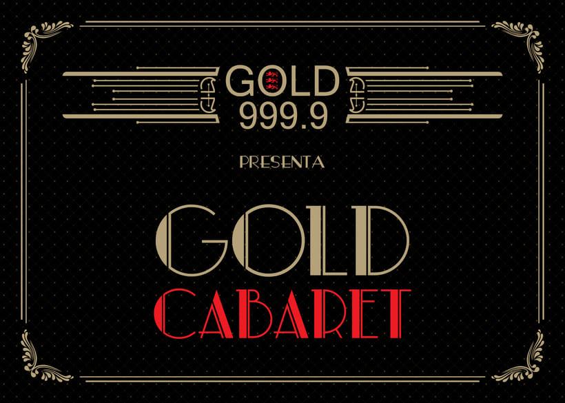 Piezas Off/On para la marca de ginebra premiun 'Gin Gold 999.9' 2