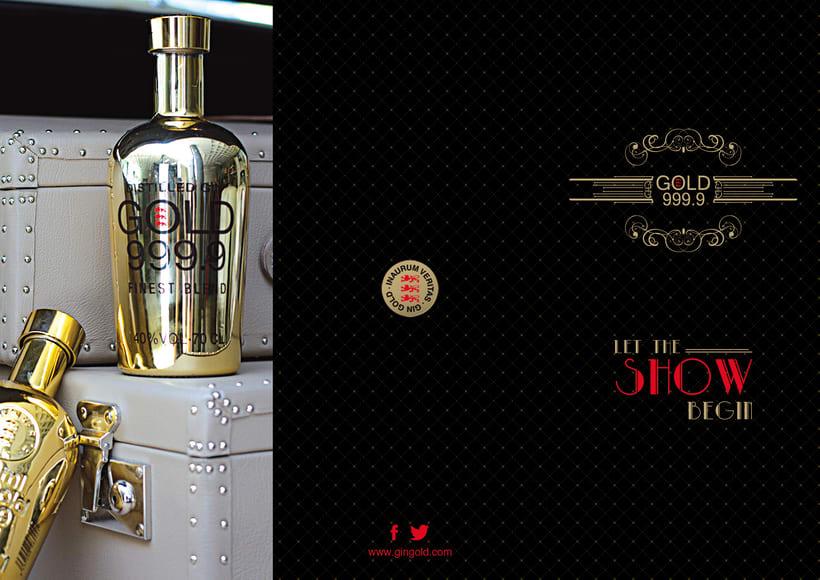 Piezas Off/On para la marca de ginebra premiun 'Gin Gold 999.9' 4