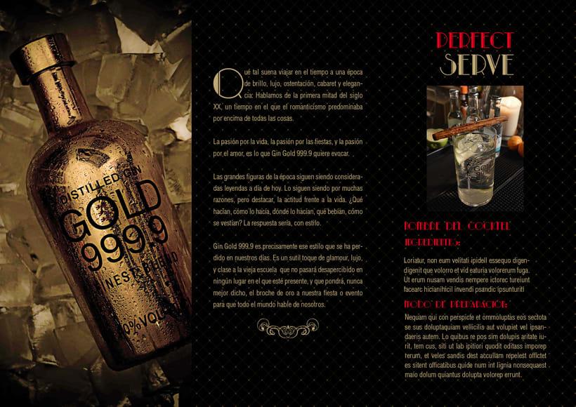 Piezas Off/On para la marca de ginebra premiun 'Gin Gold 999.9' 5