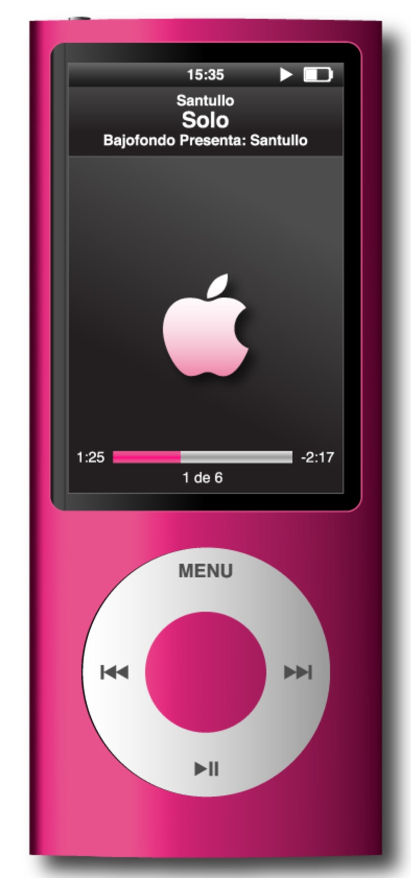 Ilustración Vectorial | iPod Nano Pink -1