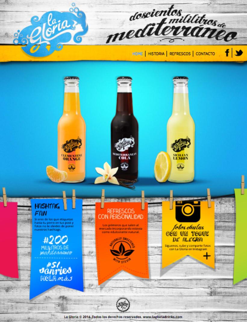 Piezas Off/On para la marca de refrescos premium 'La Gloria' -1