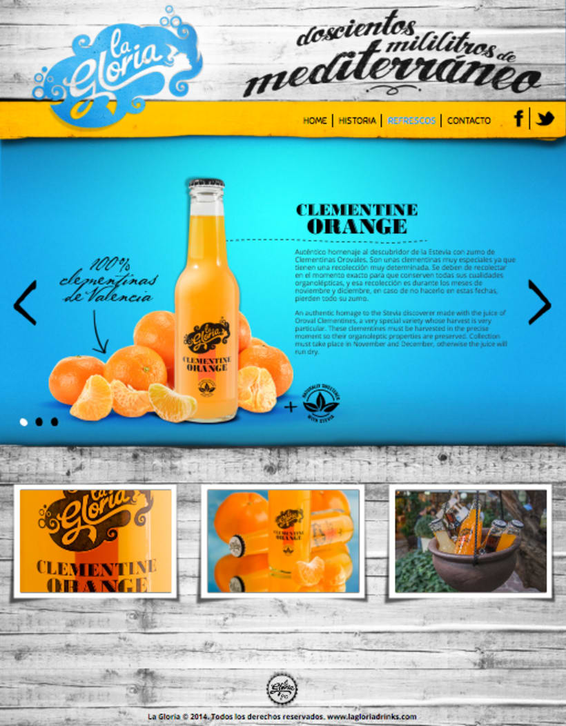 Piezas Off/On para la marca de refrescos premium 'La Gloria' 1
