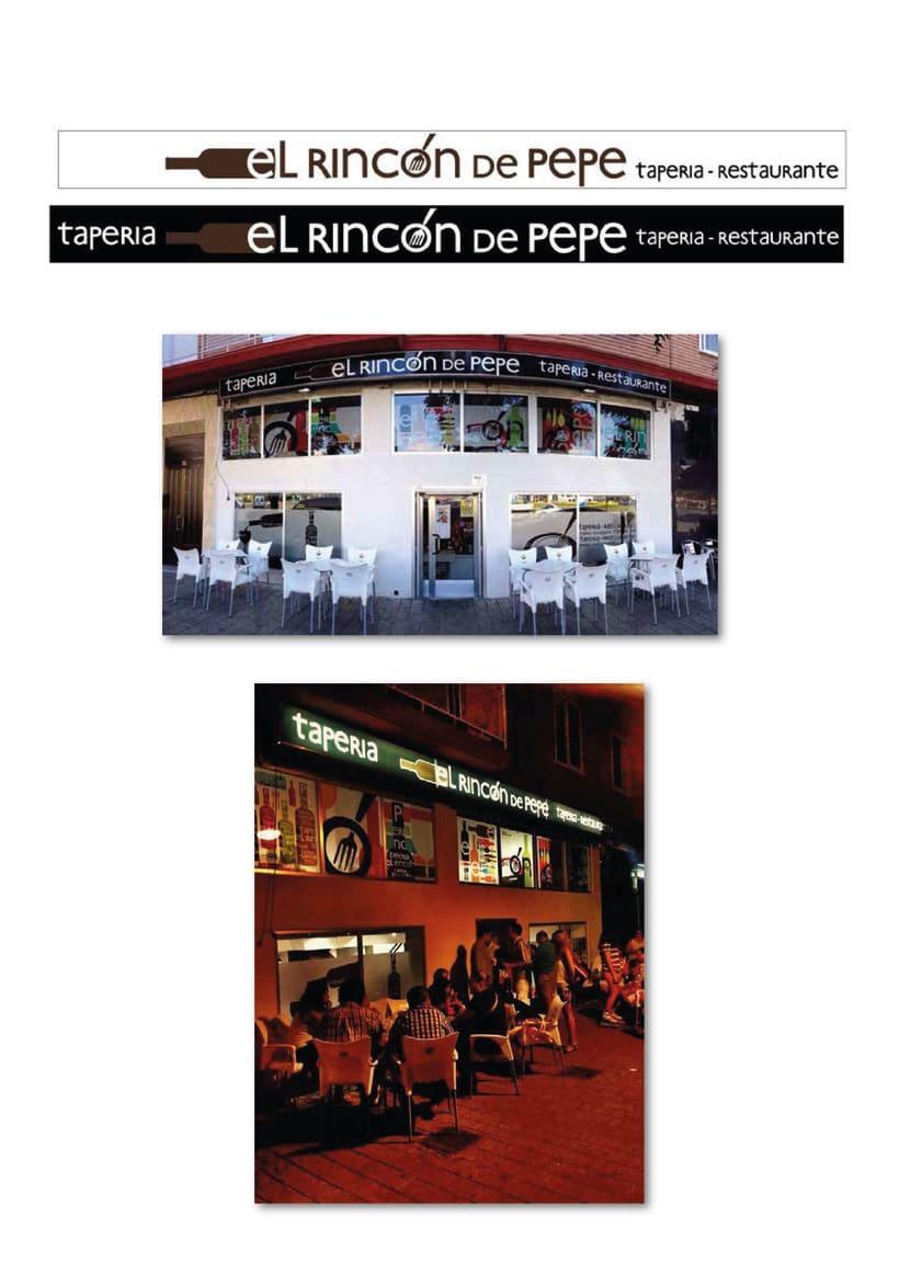 Logotipo y aplicaciones para restaurante 1