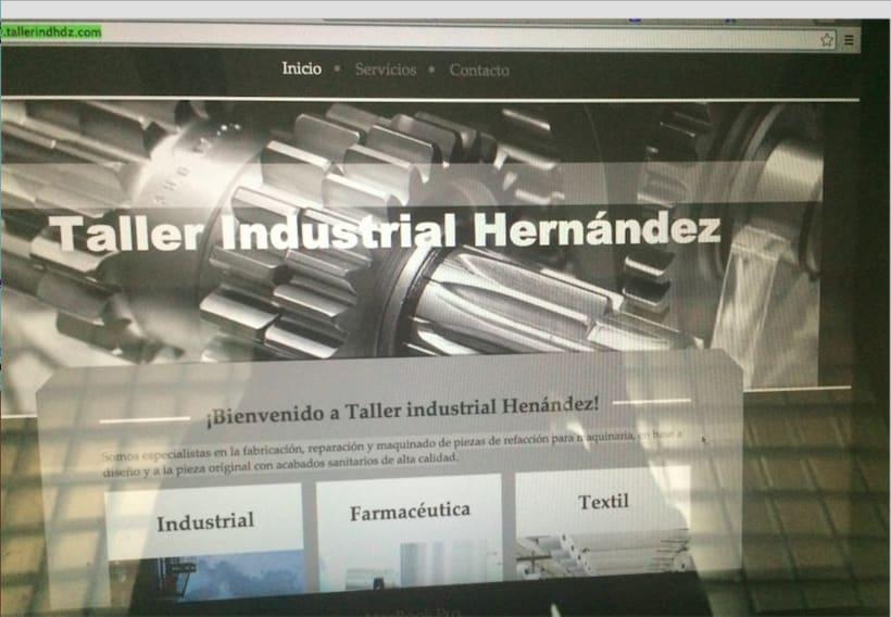Página web de Taller industrial Harnández 0