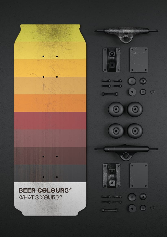 Beer colours skate 10
