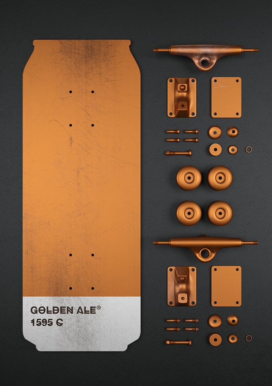 Beer colours skate 15