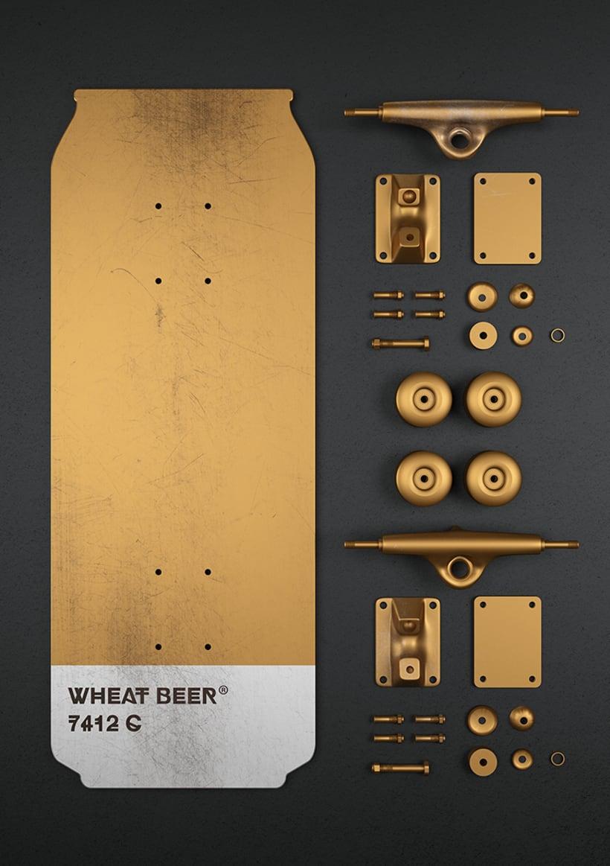 Beer colours skate 16