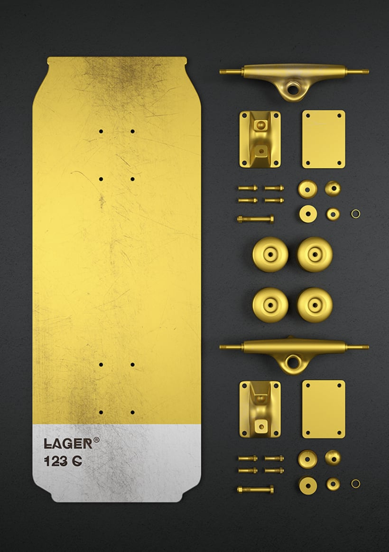 Beer colours skate 18