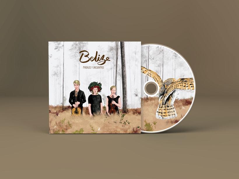 """Diseño e ilustraciones del disco """"Paisajes y encuentros"""" de la banda finlandesa BELIZE 0"""