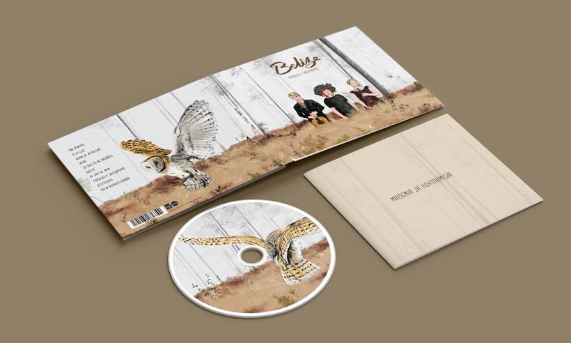 """Diseño e ilustraciones del disco """"Paisajes y encuentros"""" de la banda finlandesa BELIZE 1"""