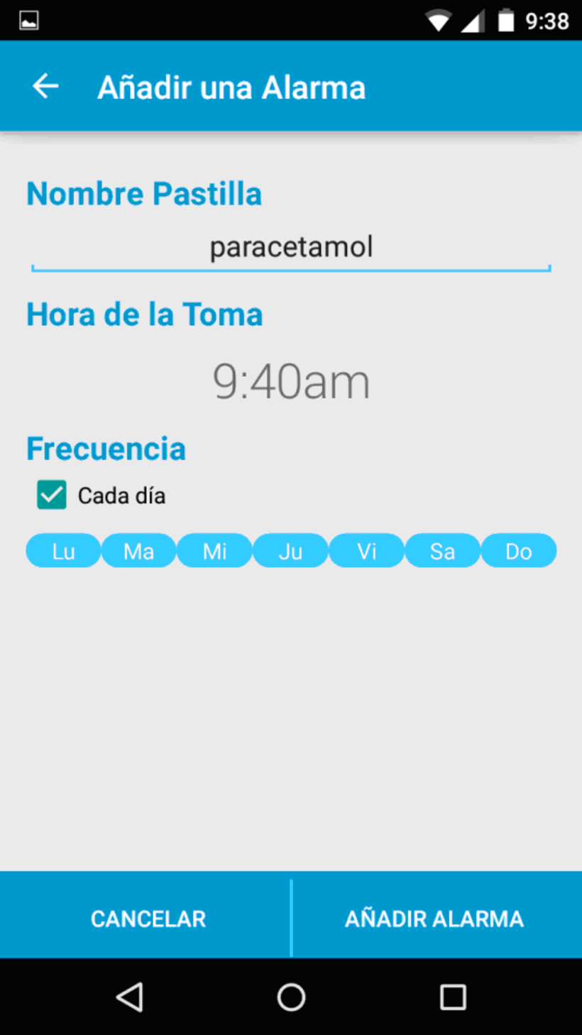 App Mispastillas Android 4