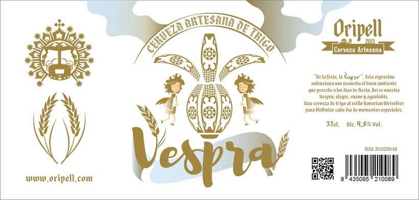 Vespra. Cerveza artesana de trigo. 7