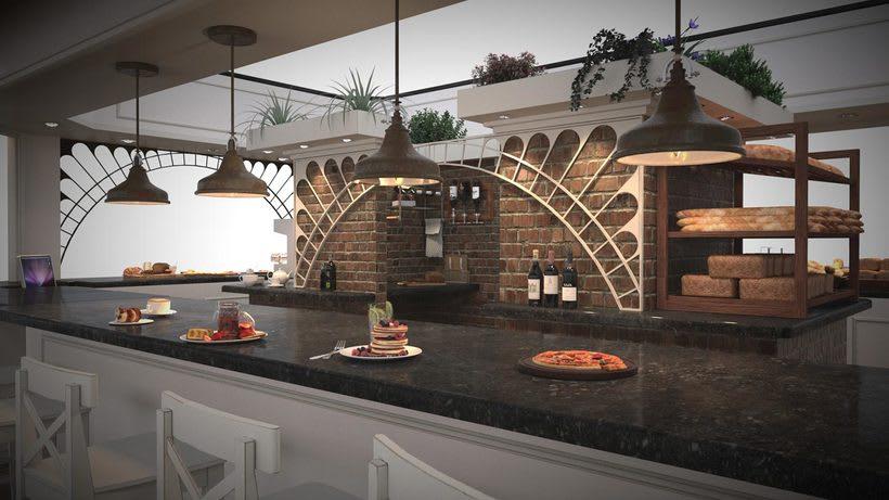 Diseño de Stand Bakery 0