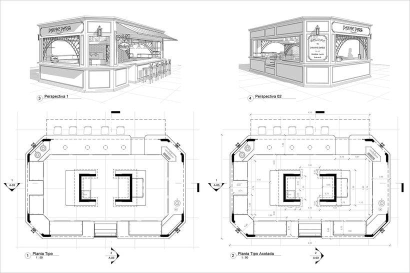 Diseño de Stand Bakery 4