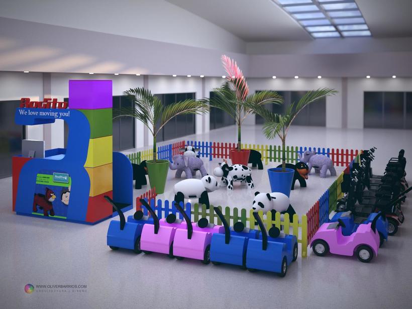Diseño arquitectonico de Stand para el Centro Comercial Sambil Curacao. -1