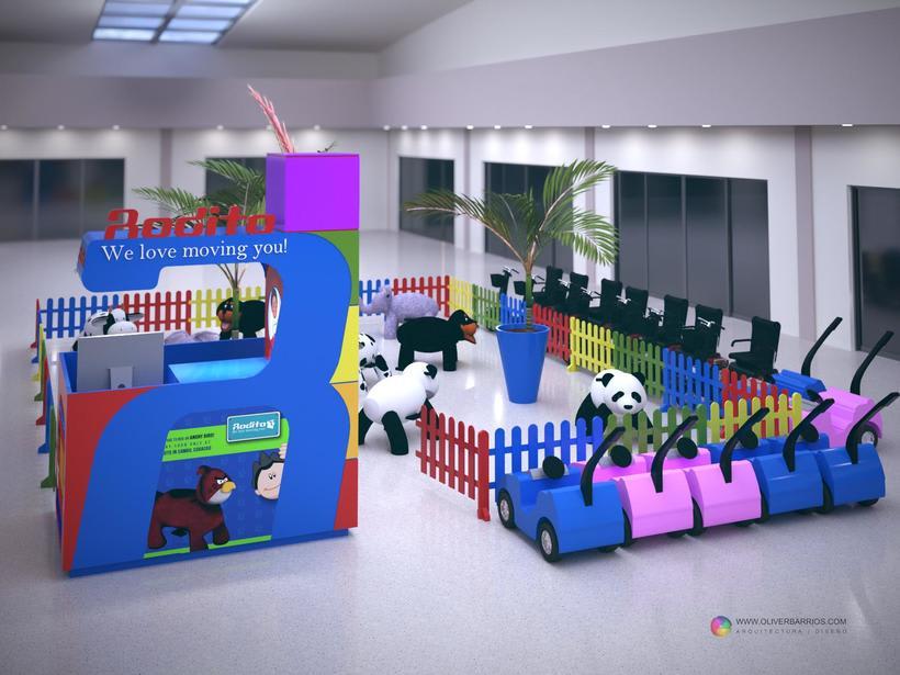 Diseño arquitectonico de Stand para el Centro Comercial Sambil Curacao. 0