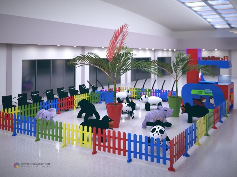 Diseño arquitectonico de Stand para el Centro Comercial Sambil Curacao. 1