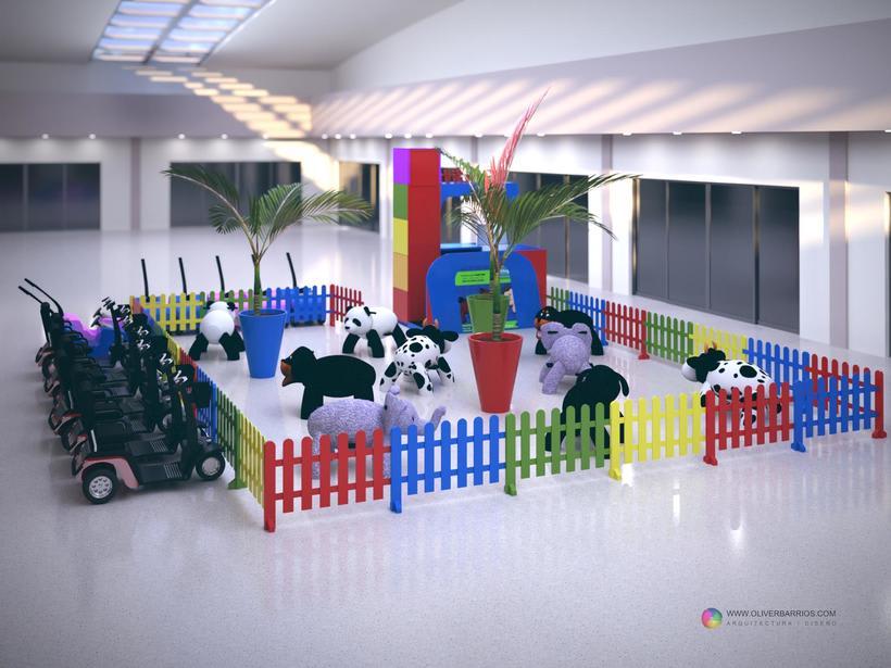 Diseño arquitectonico de Stand para el Centro Comercial Sambil Curacao. 2