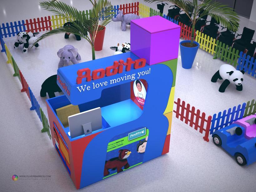 Diseño arquitectonico de Stand para el Centro Comercial Sambil Curacao. 3