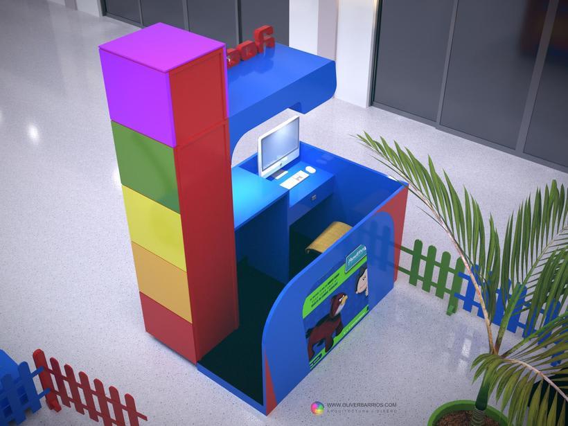 Diseño arquitectonico de Stand para el Centro Comercial Sambil Curacao. 4