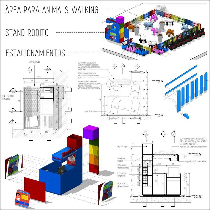 Diseño arquitectonico de Stand para el Centro Comercial Sambil Curacao. 5