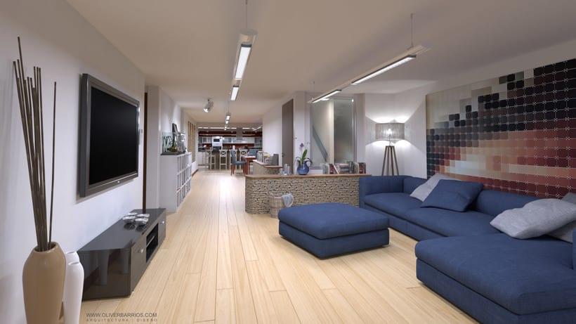 Diseño arquitectónico Vivienda Unifamiliar y Local Comercial. 1