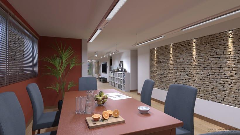 Diseño arquitectónico Vivienda Unifamiliar y Local Comercial. 3