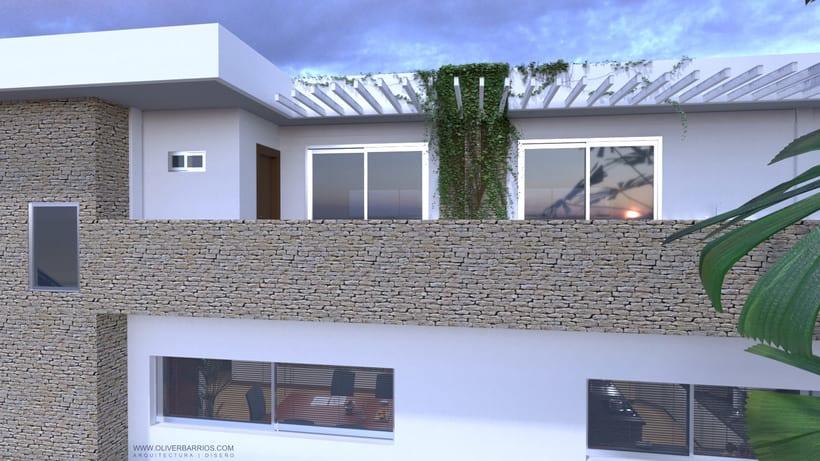 Diseño arquitectónico Vivienda Unifamiliar y Local Comercial. 4