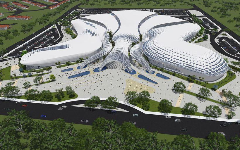 Diseño Arquitectónico Centro Ferial Internacional Y Convenciones -1