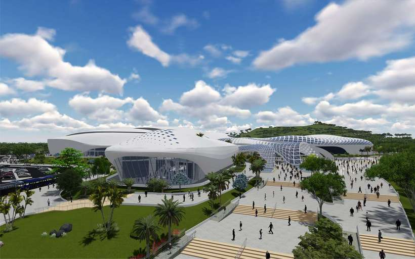 Diseño Arquitectónico Centro Ferial Internacional Y Convenciones 1