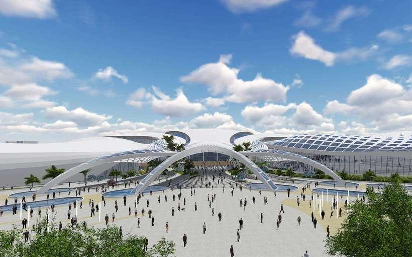 Diseño Arquitectónico Centro Ferial Internacional Y Convenciones 2