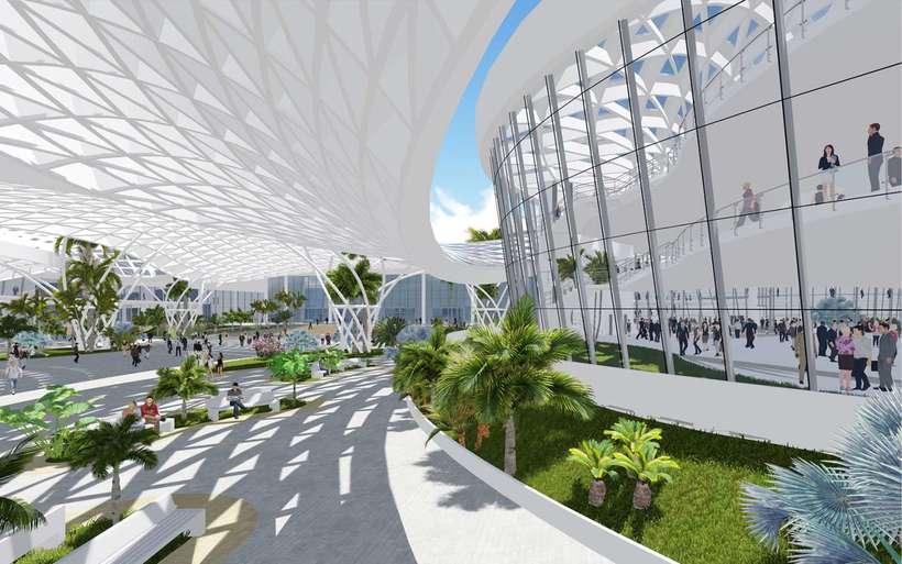 Diseño Arquitectónico Centro Ferial Internacional Y Convenciones 3