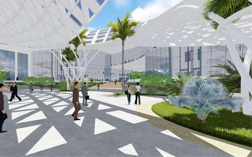 Diseño Arquitectónico Centro Ferial Internacional Y Convenciones 4