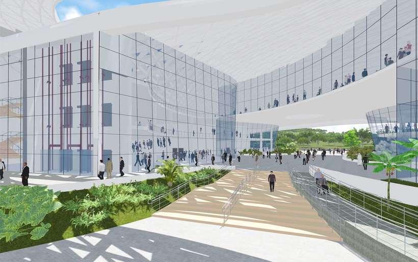 Diseño Arquitectónico Centro Ferial Internacional Y Convenciones 6
