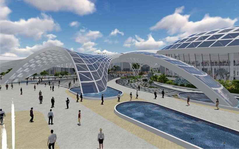 Diseño Arquitectónico Centro Ferial Internacional Y Convenciones 8