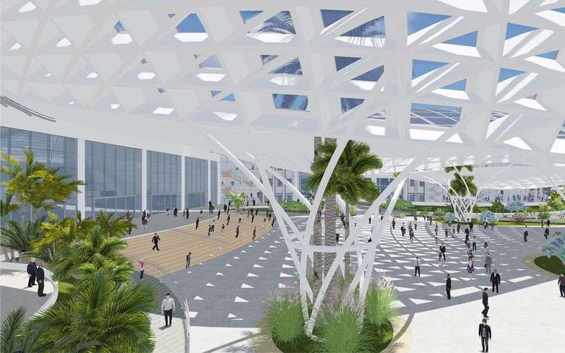 Diseño Arquitectónico Centro Ferial Internacional Y Convenciones 9