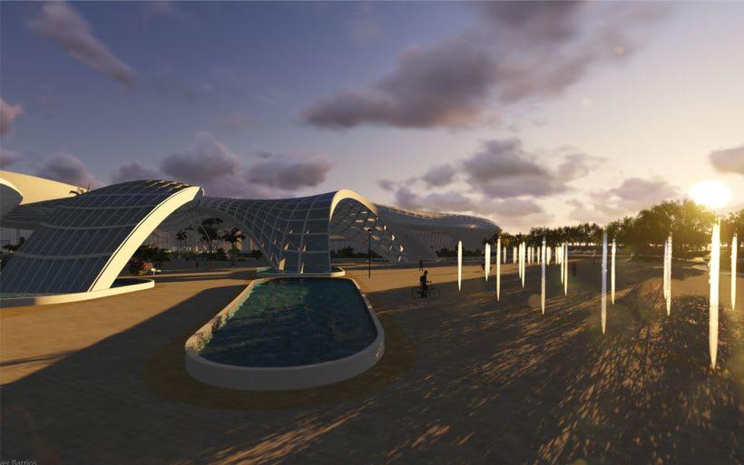 Diseño Arquitectónico Centro Ferial Internacional Y Convenciones 10