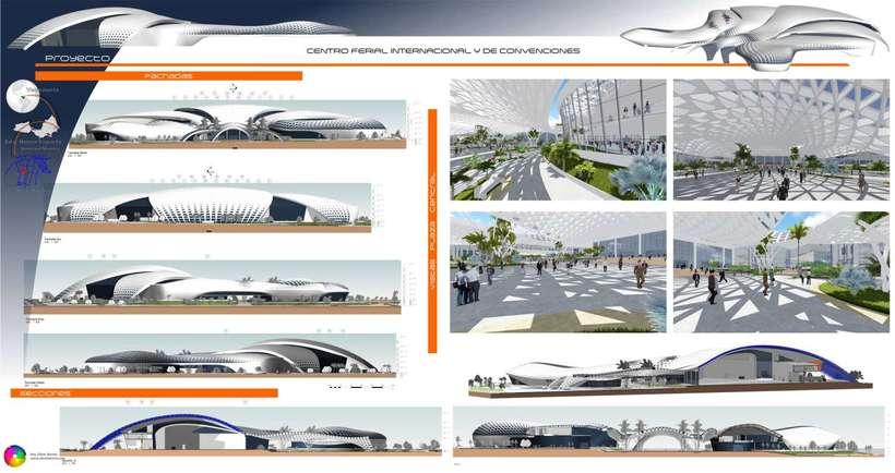 Diseño Arquitectónico Centro Ferial Internacional Y Convenciones 12