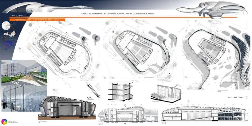 Diseño Arquitectónico Centro Ferial Internacional Y Convenciones 14