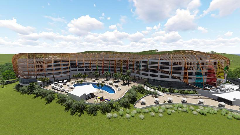 Diseño Arquitectónico y Paramétrico - Hotel Winds 5 Estrellas 5
