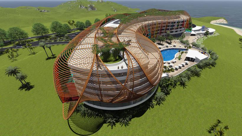 Diseño Arquitectónico y Paramétrico - Hotel Winds 5 Estrellas 6