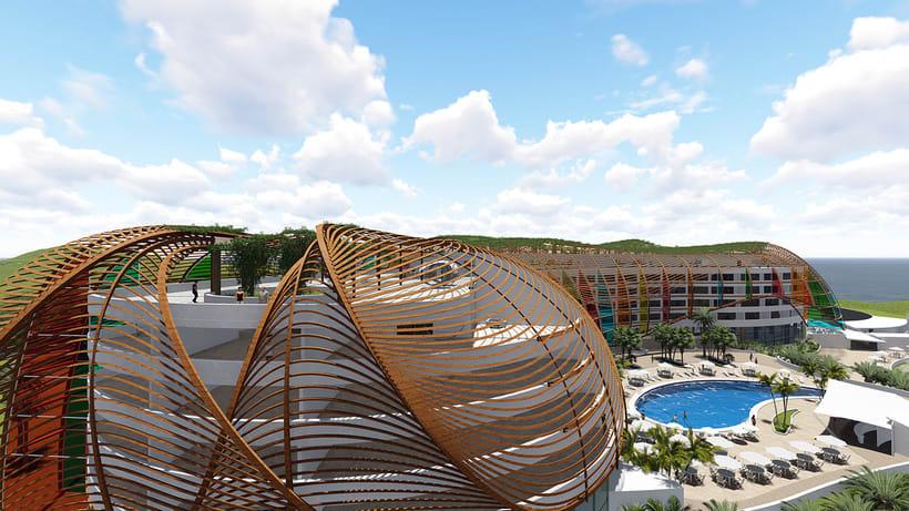 Diseño Arquitectónico y Paramétrico - Hotel Winds 5 Estrellas 7