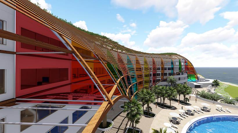 Diseño Arquitectónico y Paramétrico - Hotel Winds 5 Estrellas 8